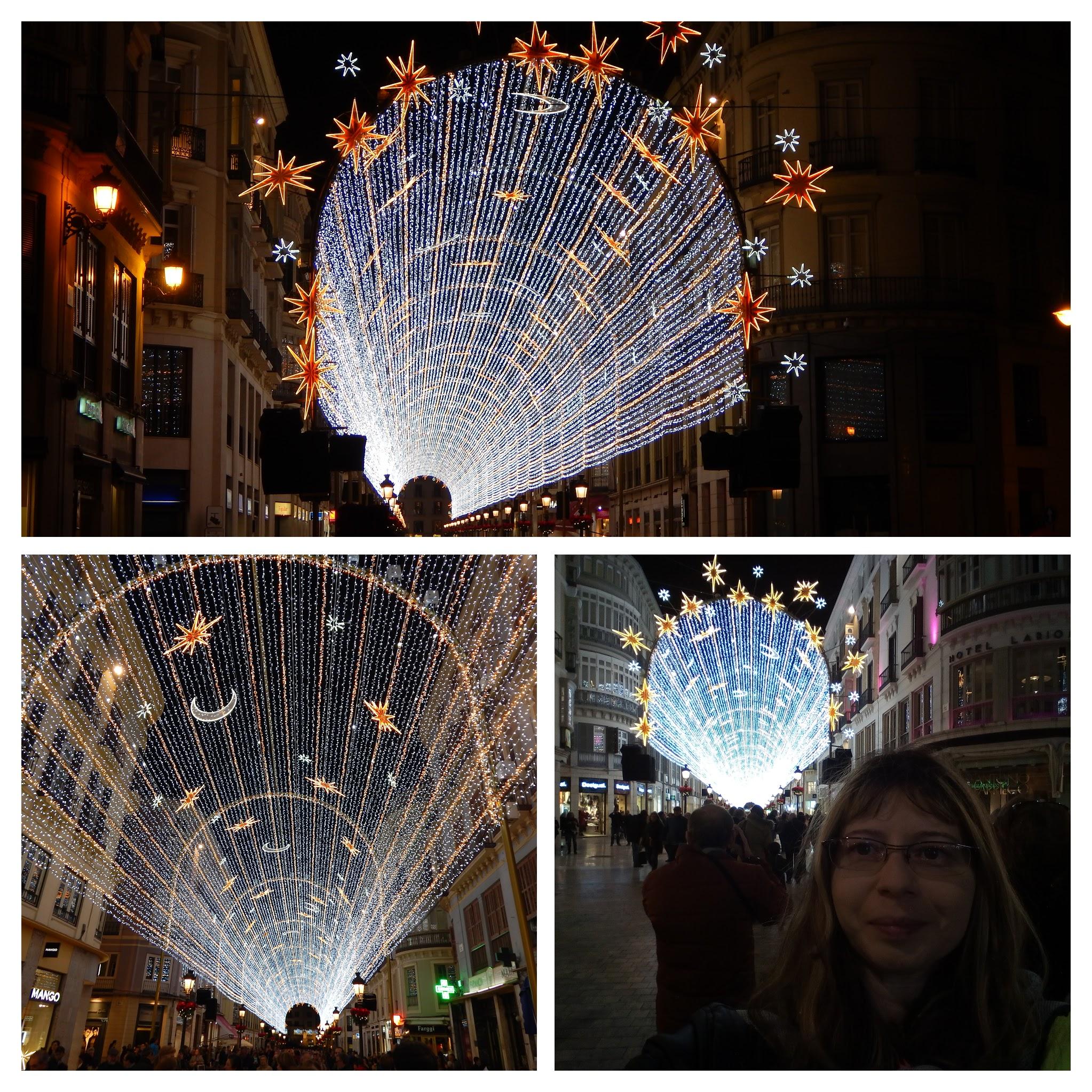 Calle Larios karácsonyi fények