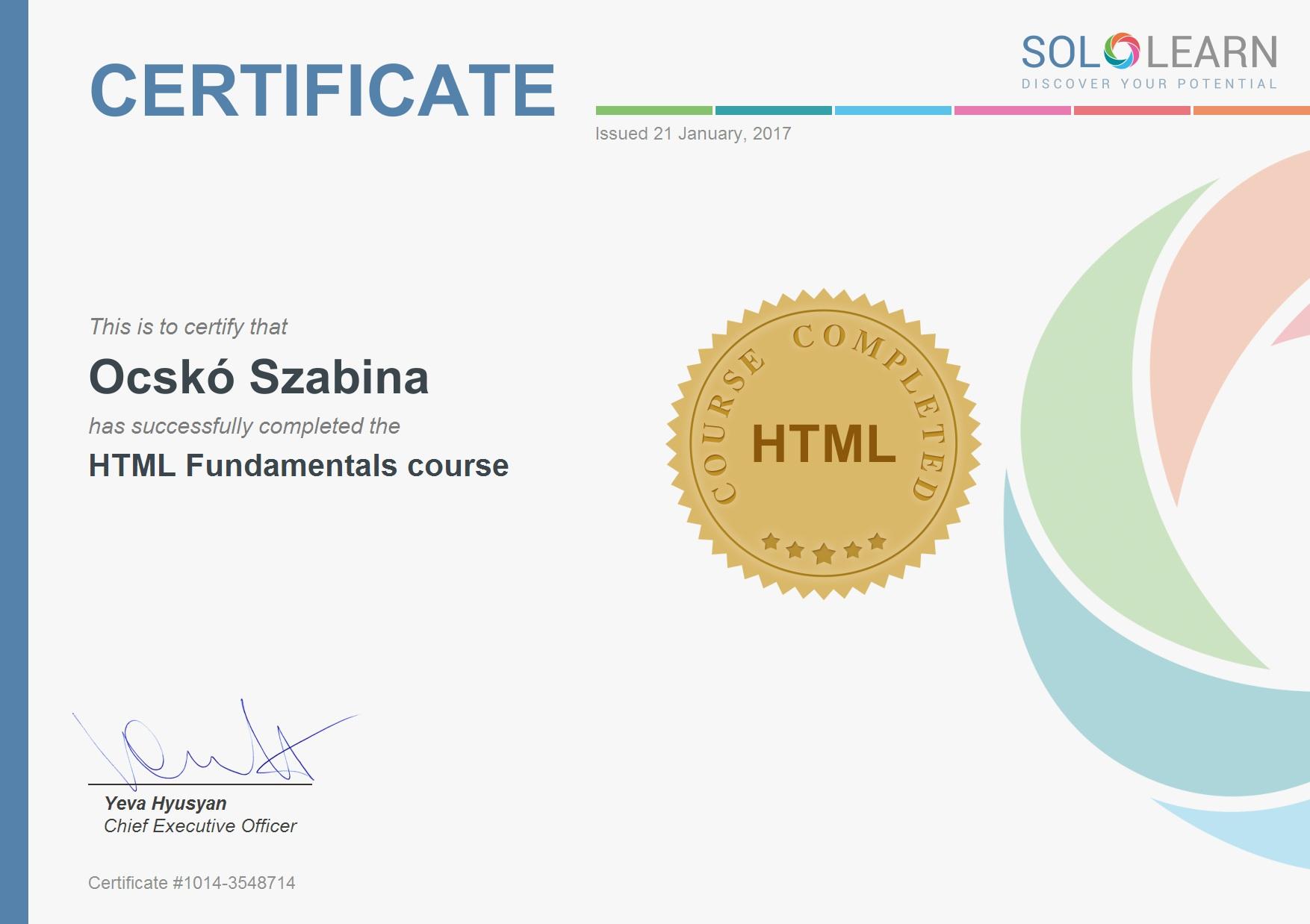 HTML_Certificate